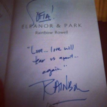 Signing of Eleanor and Park
