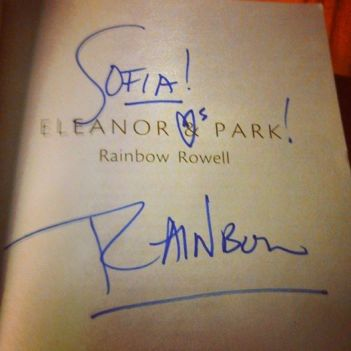 Signing my other copy of Eleanor and Park