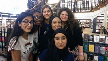Our group picture with Rainbow Rowell