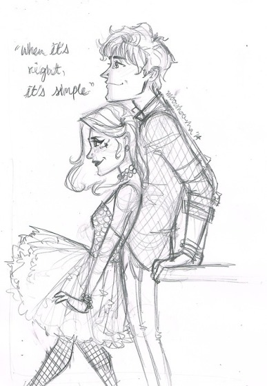 I must share this beautiful fanart. It's perfection.