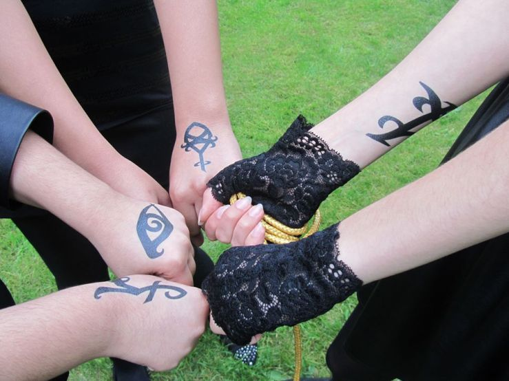 Our runes for the COHF fan party.