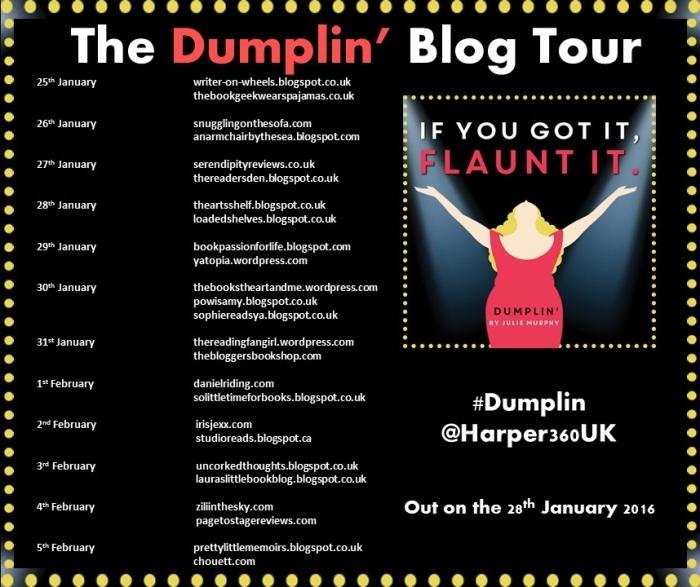 Dumplin Blog tour poster